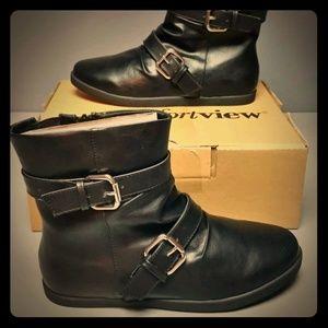 9ww NIB comfortview wide calf black booties